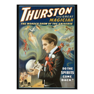 Vintage Magic Poster; Thurston, The Great Magician Custom Announcements
