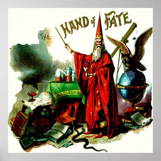 Vintage Magic Wizard Merlin Fate Litho Label Art