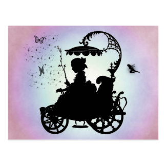 Vintage Magical Carriage Postcard