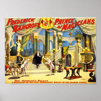 Vintage Magician Frederick Bancroft Poster