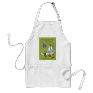 Vintage Magician of Oz, Dorothy / Toto Tale Gifts Standard Apron