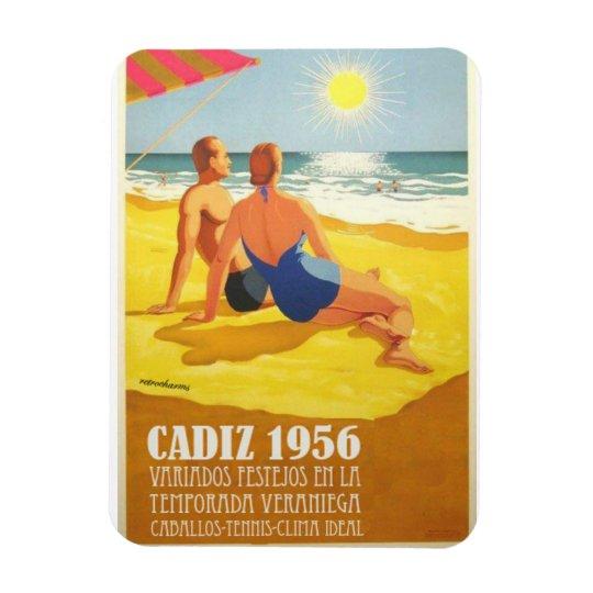 Vintage magnet Cadiz Tourism I am of Cadiz