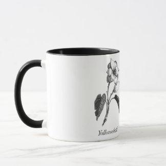 Vintage magnolia flower etching mug