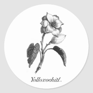 Vintage magnolia flower etching sticker