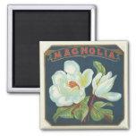 Vintage Magnolia Flower Refrigerator Magnet