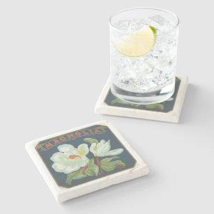 Vintage Magnolia Flower Stone Coaster