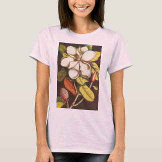 Vintage Magnolia Flowers Plant With Seeds T-Shirt