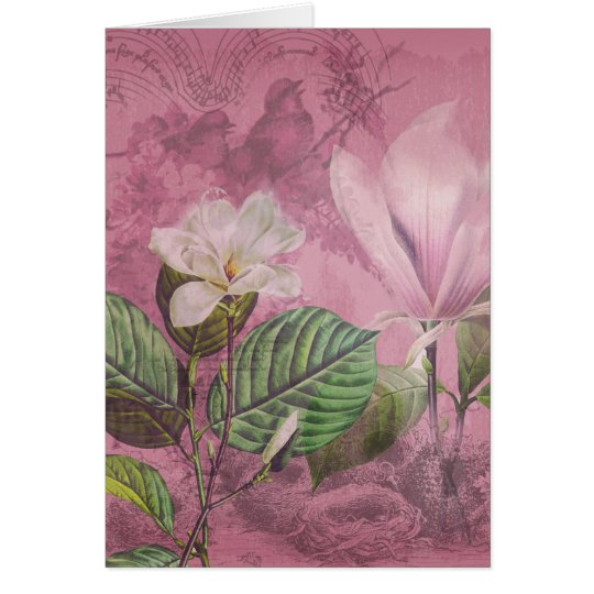 Vintage Magnolia Song Apparel and Gifts Card