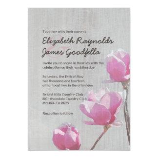 Vintage Magnolia Wedding Invitations