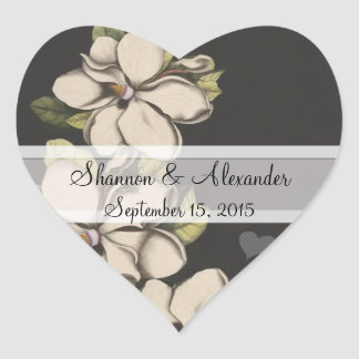 Vintage Magnolia Wedding Stickers