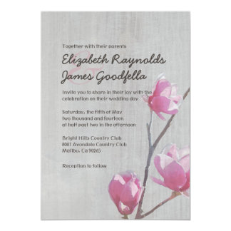 Vintage Magnolias Wedding Invitations