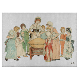 Vintage Maid Cutting Pie by Kate Greenaway Cutting Board