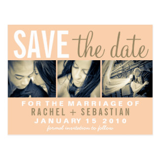 VINTAGE MAIL - SAVE THE DATE PHOTO POSTCARD