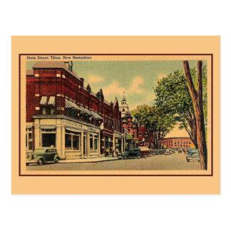 Vintage Main Street Tilton NH Postcard