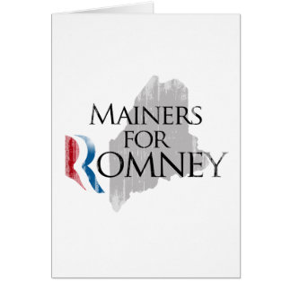 Vintage Mainers for Romney.png Greeting Card