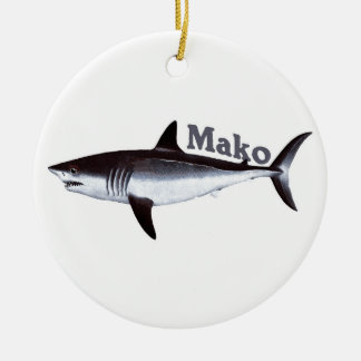 Vintage Mako Shark Christmas Ornament