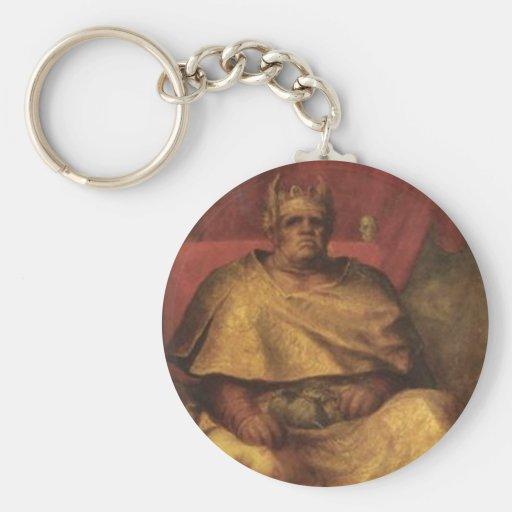 Vintage Mammon Devil Painting Key Chain