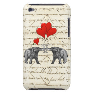 Vintage mammoths and hearts iPod touch covers