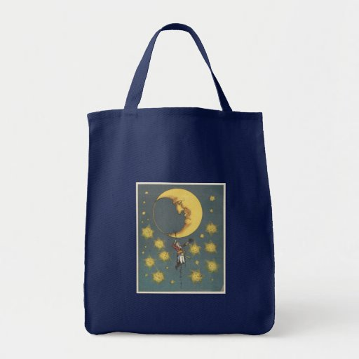 Vintage Man Hanging From the Moon Bag