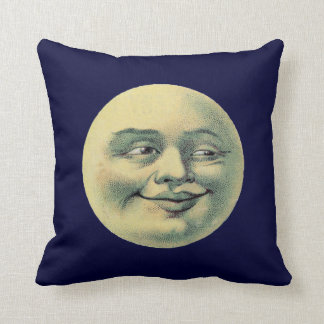 Vintage Man in the Moon Cushion