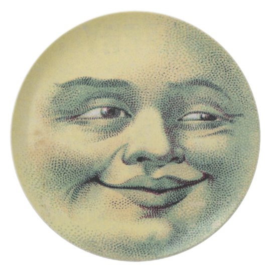 Vintage Man in the Moon Plate