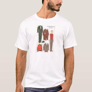 Vintage Man Paper Doll T-Shirt