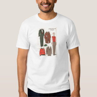 Vintage Man Paper Doll Tee Shirts