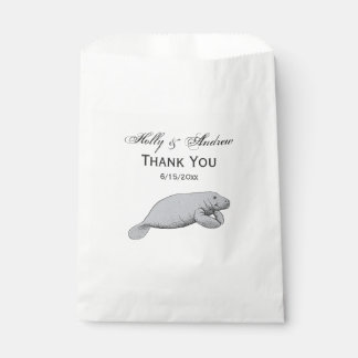 Vintage Manatee Drawing Favour Bags