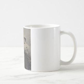 Vintage Mandolin Ladies Classic White Coffee Mug