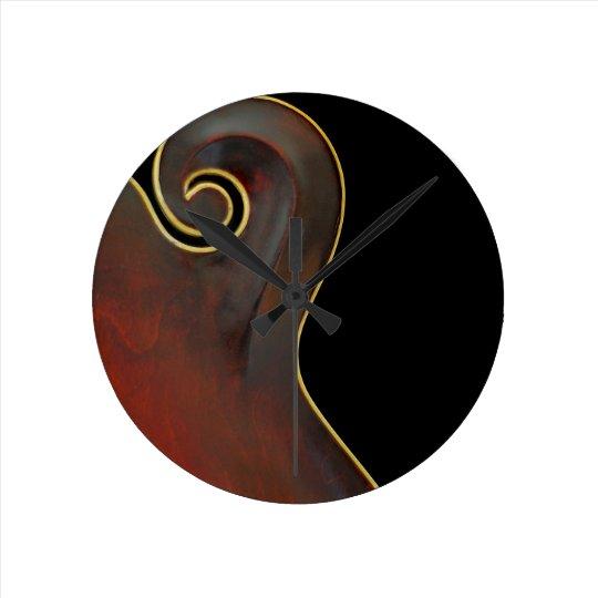 Vintage Mandolin Round Clock