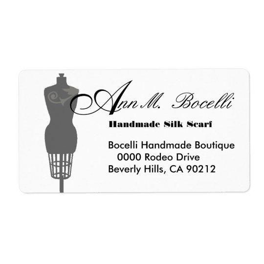 Vintage Mannequin Dress Form  Business Customised Shipping Label