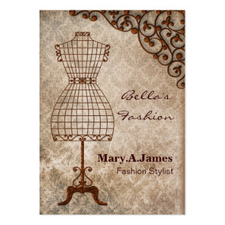 vintage mannequin fashion business cards