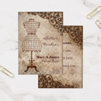vintage mannequin fashion business cards