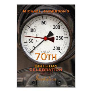 Vintage Manometer 70th Birthday Celebration 3.5x5 Paper Invitation Card