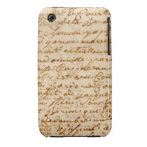 Vintage manuscript parchment iPhone 3 Case-Mate cases