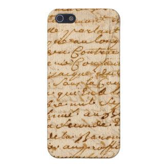 Vintage manuscript parchment case for iPhone 5