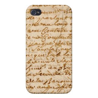 Vintage manuscript parchment case for the iPhone 4