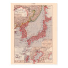 Vintage map, 1920,  Japan Postcard