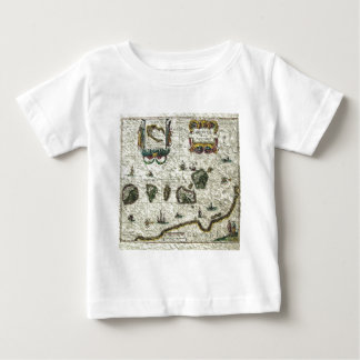 vintage map 1 baby T-Shirt