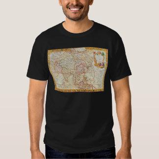 vintage map 2 shirts
