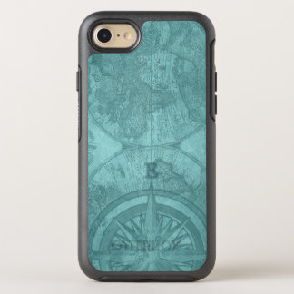 Vintage Map and Compass OtterBox Symmetry iPhone 8/7 Case