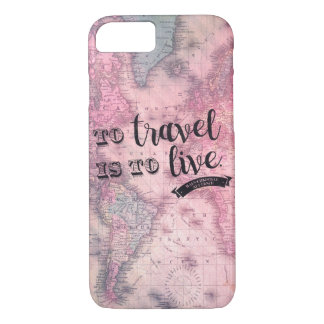 Vintage map and sweet travel quote - iphone 7 case