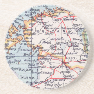 Vintage Map Coaster