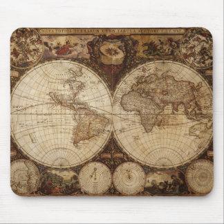 Vintage Map Mouse Mat