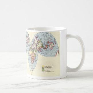 Vintage map mug