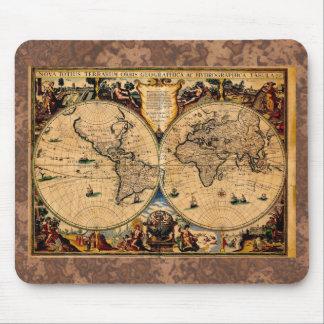 Vintage Map Nova totius terrarum 1625 Mouse Mat