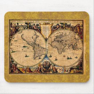 Vintage Map Nova totius terrarum 1625 Mouse Pad