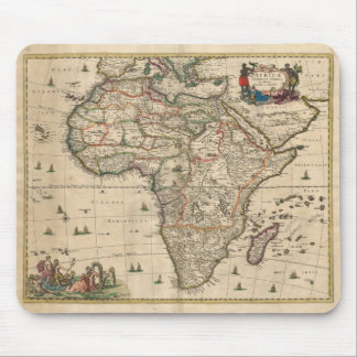 Vintage Map of Africa (1689) Mouse Pad