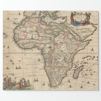 Vintage Map of Africa (1689) Wrapping Paper