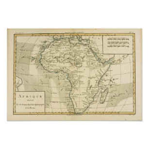 Vintage Map of Africa Poster
